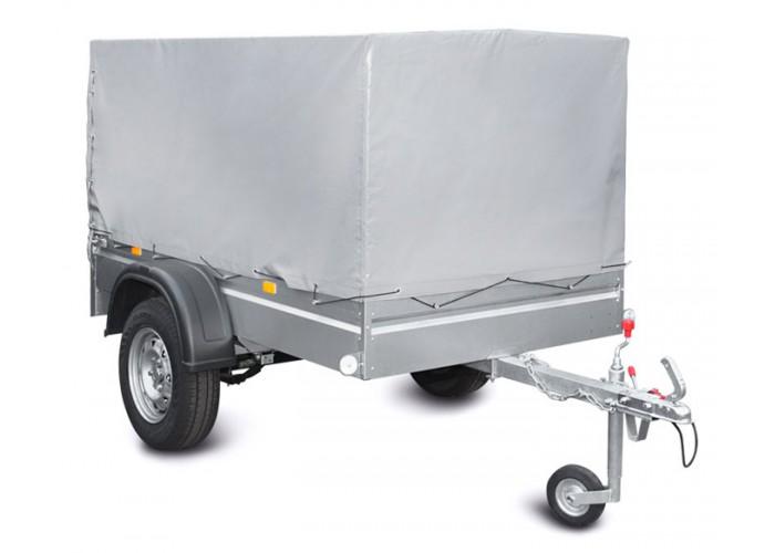 Оцинкованный рессорный прицеп МЗСА для легкового автомобиля с кузовом 205 см.