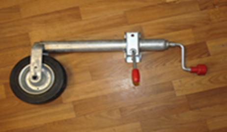 Опорное колесо, маленькое, металлический диск, с хомутом (AL-KO)