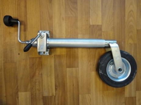 Опорное колесо, маленькое, металлический диск, с хомутом