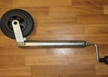 Опорное колесо, маленькое, пластиковый диск, с хомутом