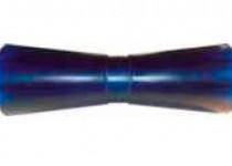 Ролик килевой L=255 мм, D=93/61/17 мм PVC синий