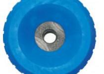 Ролик опорный L=80 мм, D=140/23 мм PVC синий