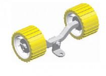Качели + 2 ролика желтые
