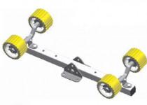 Кронштейн + 2 качели + 4 опорных ролика желтые