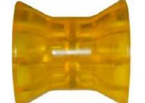 Ролик носовой L=74 мм, D=73/50/14.5 мм PVC желтый