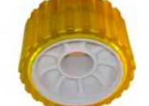 Ролик опорный L=75 мм, D=128/22 мм PVC желтый