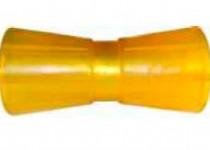 Ролик килевой L=195 мм, D=89/61/17 мм PVC желтый