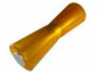 Ролик килевой L=255 мм, D=93/61/17 мм PVC желтый